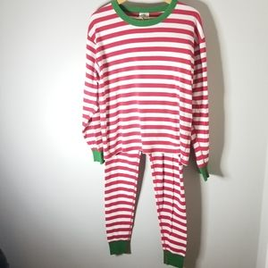 Hanna Andersson Adult Striped Christmas Pajamas, L